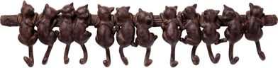 Kapstok Cats - 12-haaks - Metaal - Donkerbruin - Kare Design